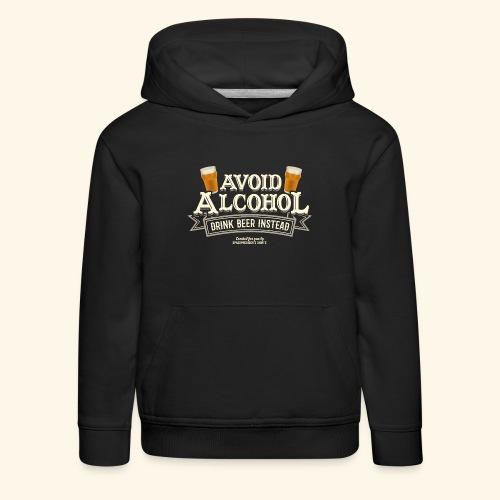 Bier T Shirt Spruch Avoid Alcohol Drink Beer  - Kinder Premium Hoodie