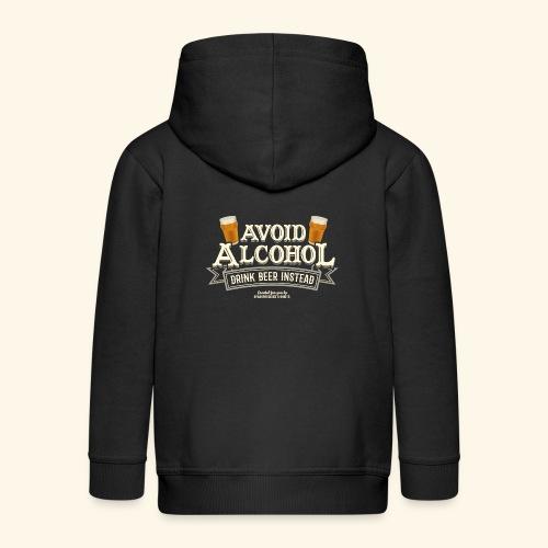 Bier T Shirt Spruch Avoid Alcohol Drink Beer  - Kinder Premium Kapuzenjacke