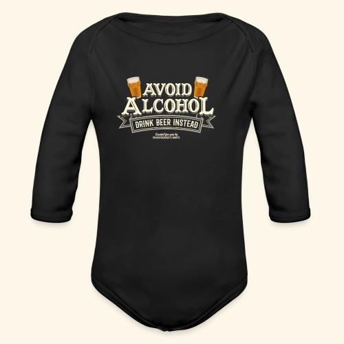 Bier T Shirt Spruch Avoid Alcohol Drink Beer  - Baby Bio-Langarm-Body