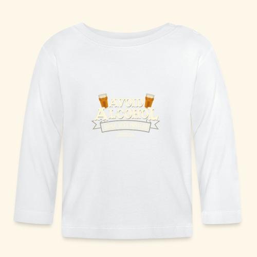 Bier T Shirt Spruch Avoid Alcohol Drink Beer  - Baby Langarmshirt