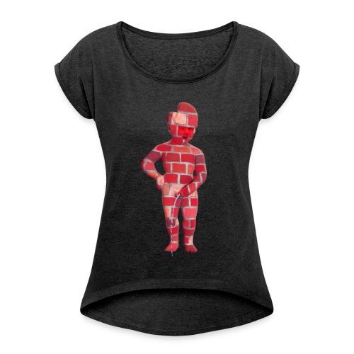 BRiCO ♀♂   mannekenpis - T-shirt à manches retroussées Femme