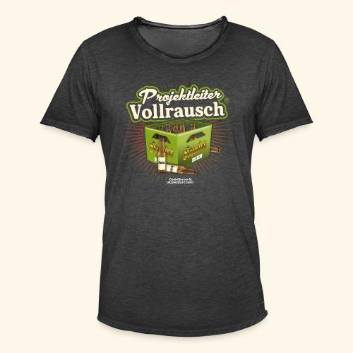 Bier T Shirt Projektleiter Vollrausch (R) - Männer Vintage T-Shirt