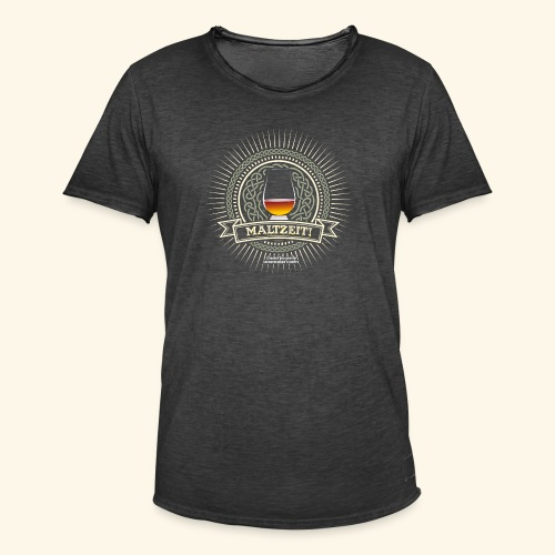 Single Malt Whisky T Shirt Maltzeit! - Männer Vintage T-Shirt