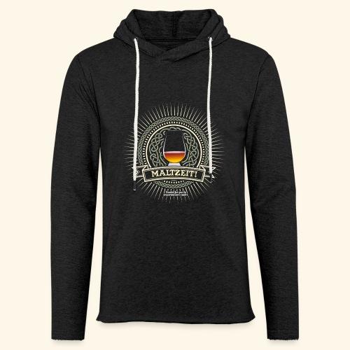 Single Malt Whisky T Shirt Maltzeit! - Leichtes Kapuzensweatshirt Unisex