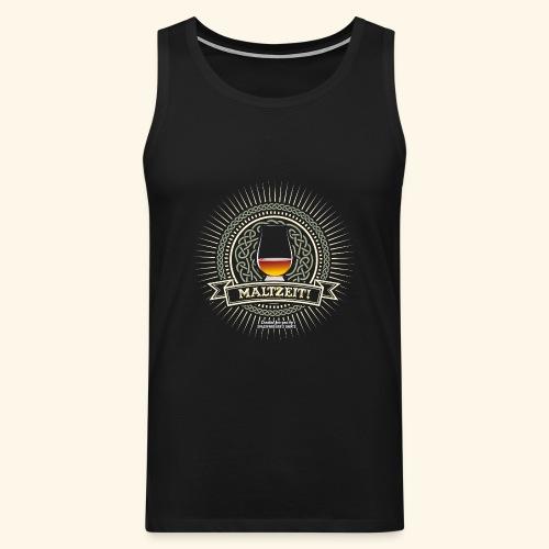 Single Malt Whisky T Shirt Maltzeit! - Männer Premium Tank Top