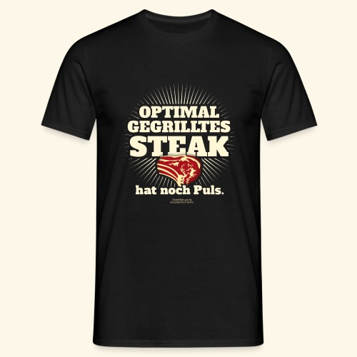 Grill T Shirt Steak mit Puls - Männer T-Shirt