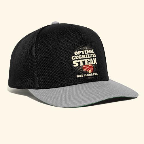 Grill T Shirt Steak mit Puls - Snapback Cap