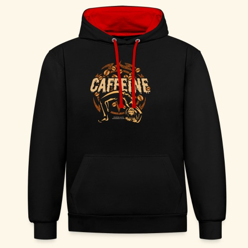 Kaffee T Shirt - Kontrast-Hoodie