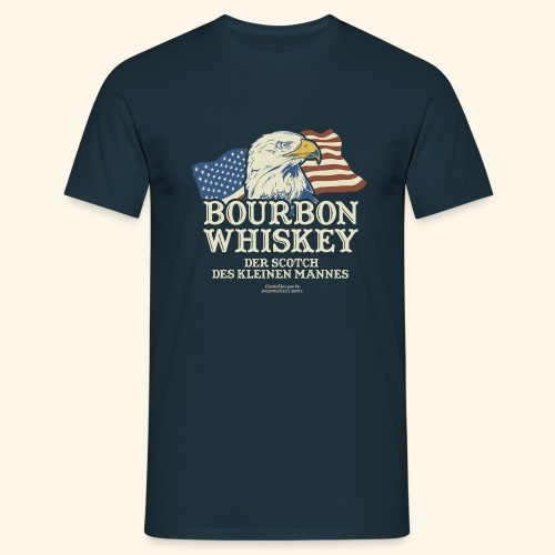 Whisky T Shirt Bourbon Whisky Scotch des kleinen Mannes - Männer T-Shirt
