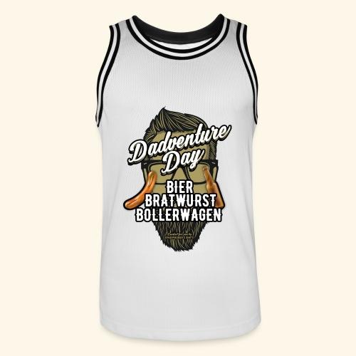 Vatertag T Shirt Dadventure Day - Männer Basketball-Trikot