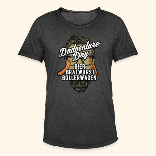 Vatertag T Shirt Dadventure Day - Männer Vintage T-Shirt
