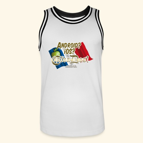 Fun T Shirt Betriebssystem Calvados - Männer Basketball-Trikot