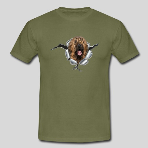 Briard fauve im *Metall-Loch* - Männer T-Shirt