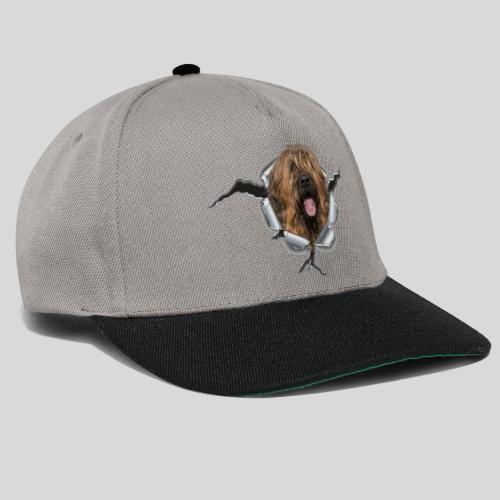 Briard fauve im *Metall-Loch* - Snapback Cap