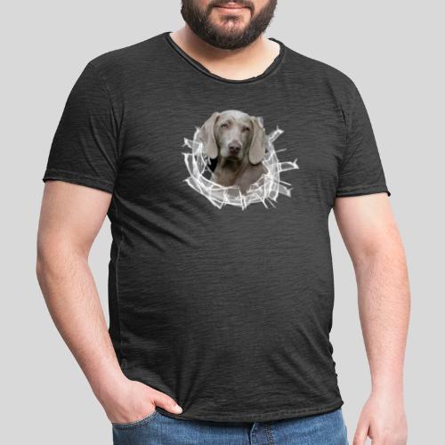 Weimaraner im *Glas-Loch* - Männer Vintage T-Shirt