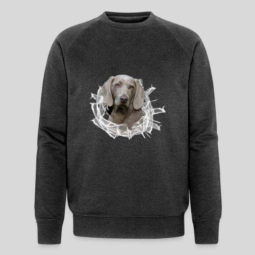Weimaraner im *Glas-Loch* - Männer Bio-Sweatshirt von Stanley & Stella