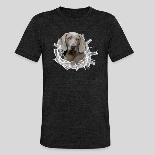 Weimaraner im *Glas-Loch* - Unisex Tri-Blend T-Shirt von Bella + Canvas