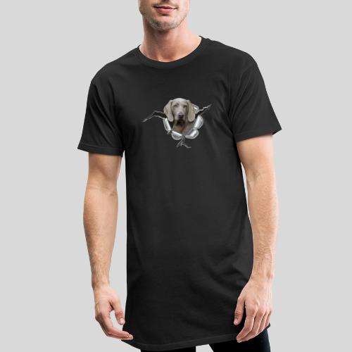 Weimaraner im *Metall-Loch* - Männer Urban Longshirt