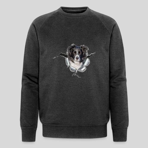 Border Collie im *Metall-Loch* - Männer Bio-Sweatshirt von Stanley & Stella