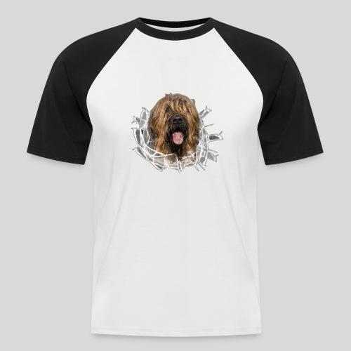 Briard fauve im *Glas-Loch* - Männer Baseball-T-Shirt
