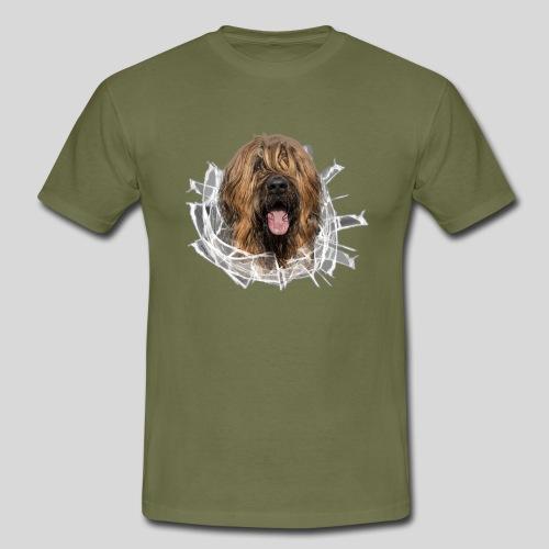 Briard fauve im *Glas-Loch* - Männer T-Shirt