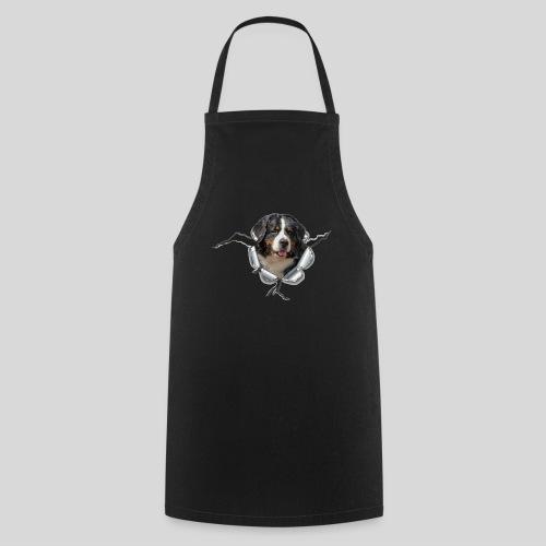 Berner Sennenhund im *Metall-Loch* - Kochschürze