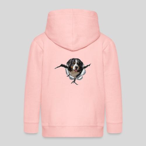 Berner Sennenhund im *Metall-Loch* - Kinder Premium Kapuzenjacke