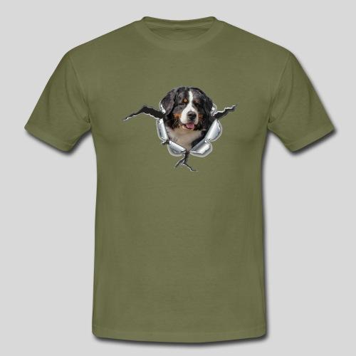 Berner Sennenhund im *Metall-Loch* - Männer T-Shirt