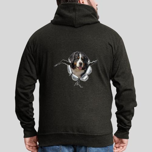 Berner Sennenhund im *Metall-Loch* - Männer Premium Kapuzenjacke