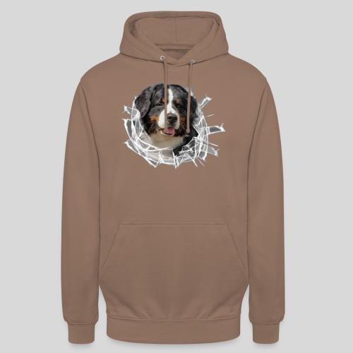 Berner Sennen Hund im *Glas-Loch* - Unisex Hoodie