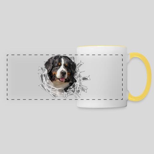 Berner Sennen Hund im *Glas-Loch* - Panoramatasse