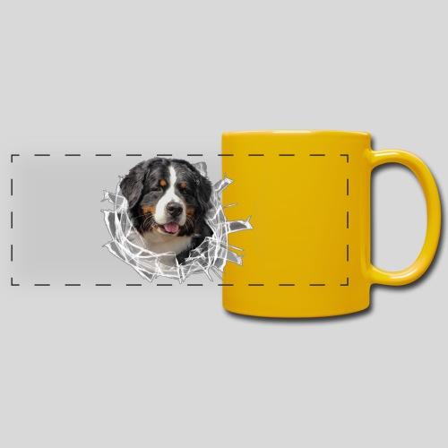 Berner Sennen Hund im *Glas-Loch* - Panoramatasse farbig