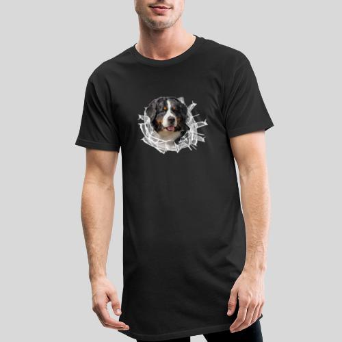 Berner Sennen Hund im *Glas-Loch* - Männer Urban Longshirt