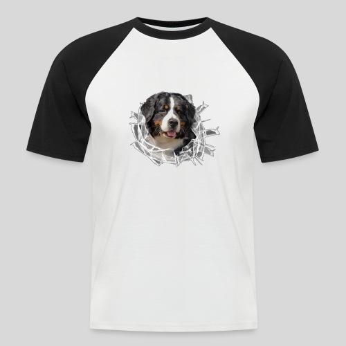 Berner Sennen Hund im *Glas-Loch* - Männer Baseball-T-Shirt