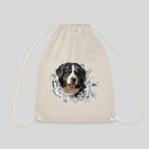 Berner Sennen Hund im *Glas-Loch* - Turnbeutel