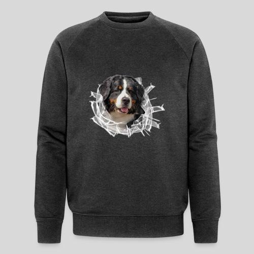 Berner Sennen Hund im *Glas-Loch* - Männer Bio-Sweatshirt von Stanley & Stella