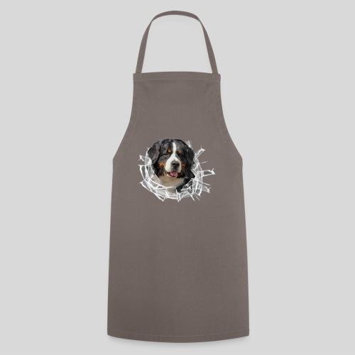 Berner Sennen Hund im *Glas-Loch* - Kochschürze