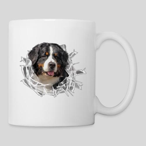 Berner Sennen Hund im *Glas-Loch* - Tasse