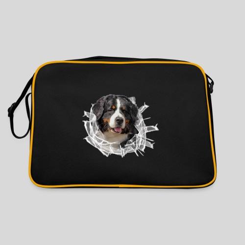 Berner Sennen Hund im *Glas-Loch* - Retro Tasche