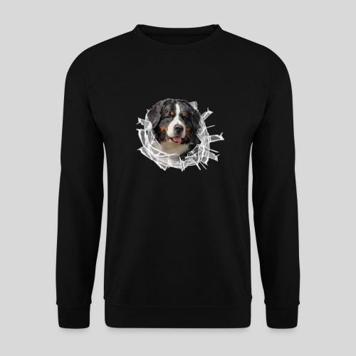 Berner Sennen Hund im *Glas-Loch* - Männer Pullover