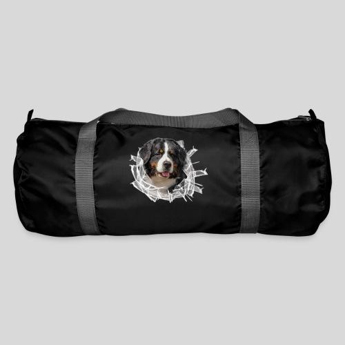Berner Sennen Hund im *Glas-Loch* - Sporttasche