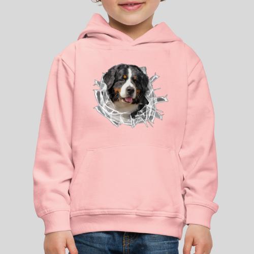 Berner Sennen Hund im *Glas-Loch* - Kinder Premium Hoodie