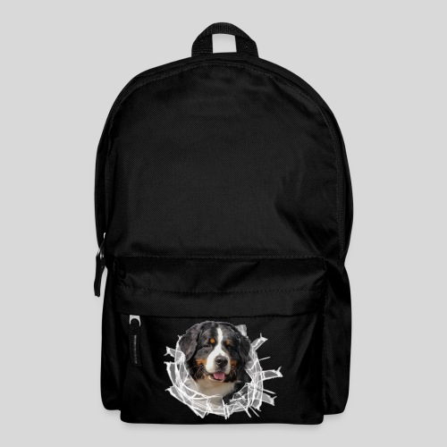 Berner Sennen Hund im *Glas-Loch* - Rucksack