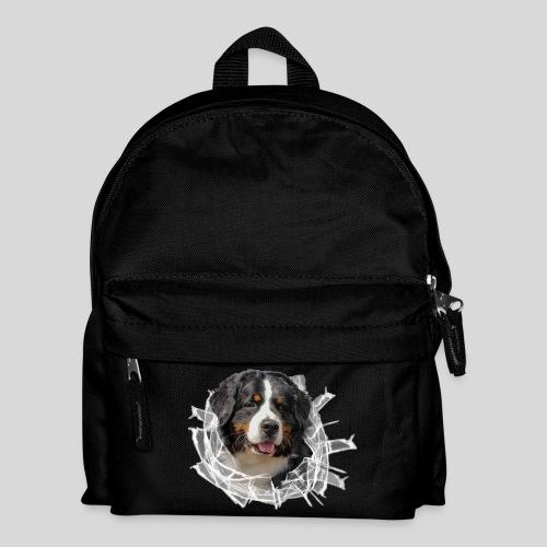 Berner Sennen Hund im *Glas-Loch* - Kinder Rucksack