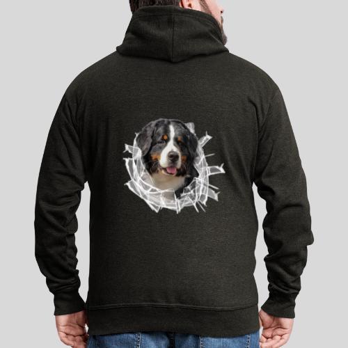 Berner Sennen Hund im *Glas-Loch* - Männer Premium Kapuzenjacke