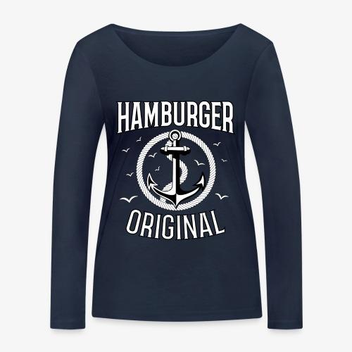 95 Hamburger Original Anker Seil - Frauen Bio-Langarmshirt von Stanley & Stella