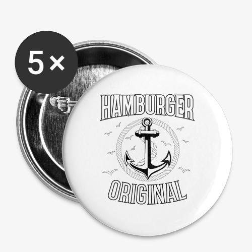 95 Hamburger Original Anker Seil - Buttons groß 56 mm (5er Pack)