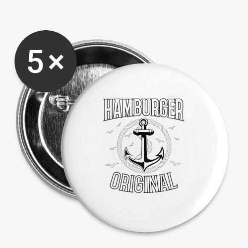 95 Hamburger Original Anker Seil - Buttons mittel 32 mm (5er Pack)