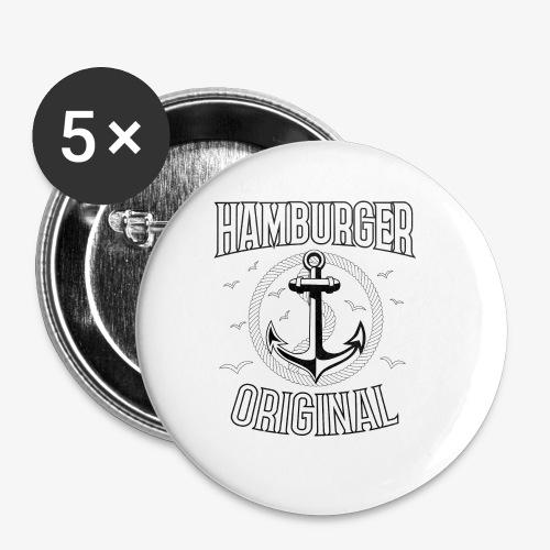 95 Hamburger Original Anker Seil - Buttons klein 25 mm (5er Pack)