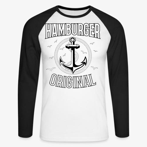 95 Hamburger Original Anker Seil - Männer Baseballshirt langarm